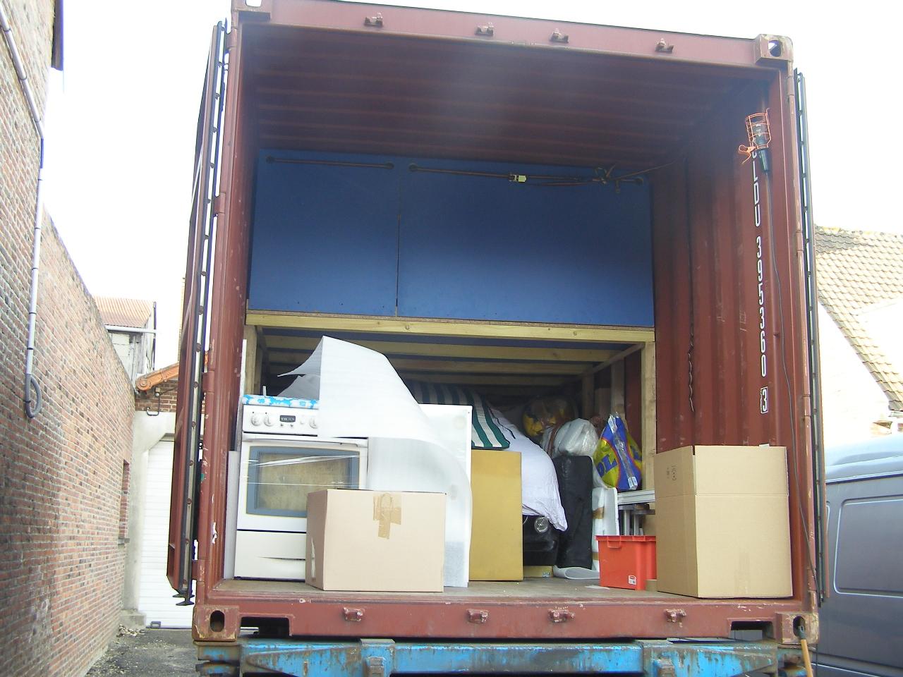Mon container au départ de métropole!!!